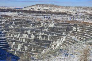 An asbestos mine
